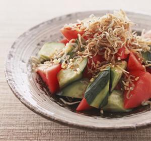 きゅうり と トマト の サラダ