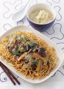 牛肉と青菜のあんかけ焼きそば レシピ 簡単 料理レシピ ベターホーム